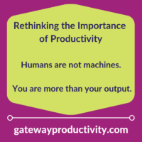 Rethinking the Importance of Productivity